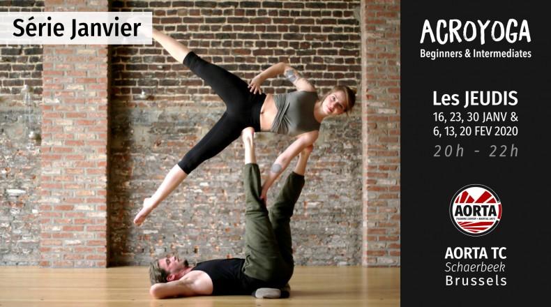 Acroyoga : serie Beginners and Intermediates - january 2020