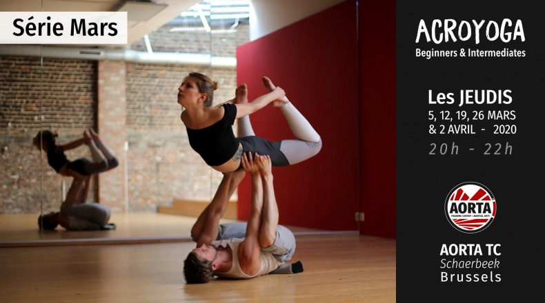 Acroyoga : serie Beginners and Intermediates - march 2020